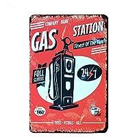 Route 66 Gas Station 金属板ブリキ看板警告サイン注意サイン表示パネル情報サイン金属安全サイン