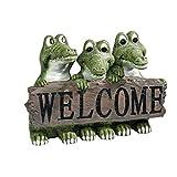 Design Toscano EU10544 Ragin' Cajun Crocodile Welcome Statue,Full Color