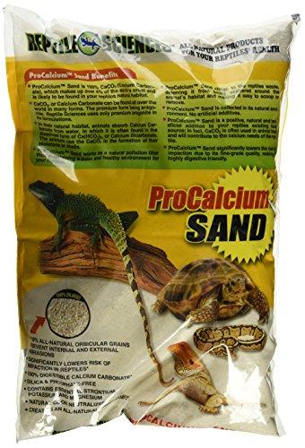 Reptile Sciences Terrarium Sand for Aquarium, 10-Pound, Natural White