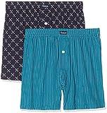 Abanderado Mpk x 2 boxer punto alg est, Hombre, Azul (Tamaño del fabricante:M/48)