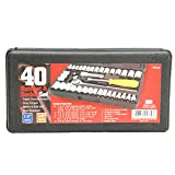 Great Neck Saw PSO40 Drive Socket Set, 1/4-Inch and 3/8-Inch Drive, 40-Piece