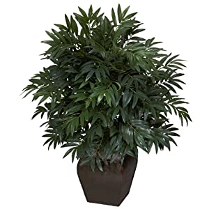 Nearly Natural Nearly Natural Bamboo Palm with Decorative Green 1