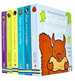 Usborne Touchy-feely Series 2 Collection 6 Books Set (Squirrel, Badger, Otter, Hedgehog, Meerkat, Monster)