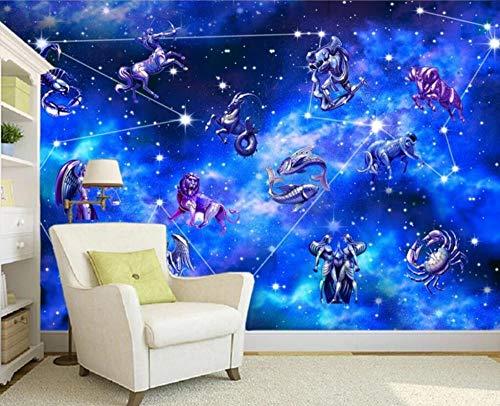 Tapete Fototapete 3D Effekt 12 Sternbilder Der Milchstraße Vliestapete 3D Fototapeten Wanddeko Wandbilder Wohnzimmer,400cmX280cm