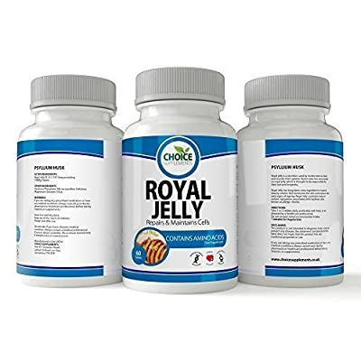 Choice Supplements Royal Jelly 750 mg Capsule Tablet Rich in Vitamins Minerals and Trace Elements Vitamin foil Pack 60