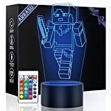 3D Night Light for Kids, 16 Color Illusion Table Lamp with Remote Control, USB Rechargeable Bedside Desk Light for Children Birthday Christmas Gifts Bedroom Decoration for Girls Age 7 8 9 10+)