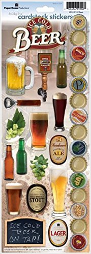 Paper House Productions STCX-0109E Cardstock Stickers, Beer