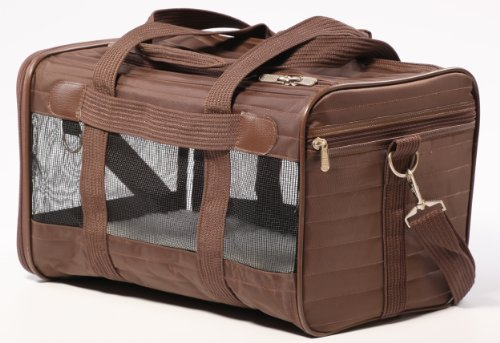 Sherpa Travel Original Deluxe Airline Approved Pet Carrier Small, Brown