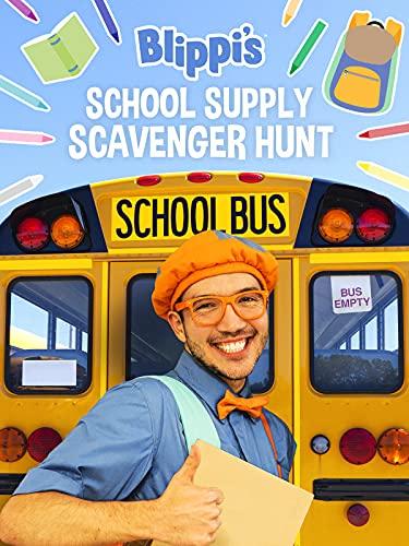 Blippi's School Supply Scavenger Hunt