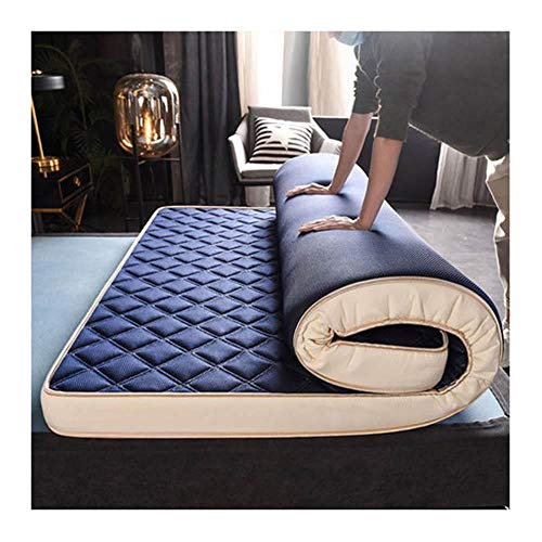 Yuan Ou Mattress Natural and Memory sponge filling Student Mattress 8cm / 5cm thicknes stereoscopic Breathable Thicken Single double 180x200x8cm Navy