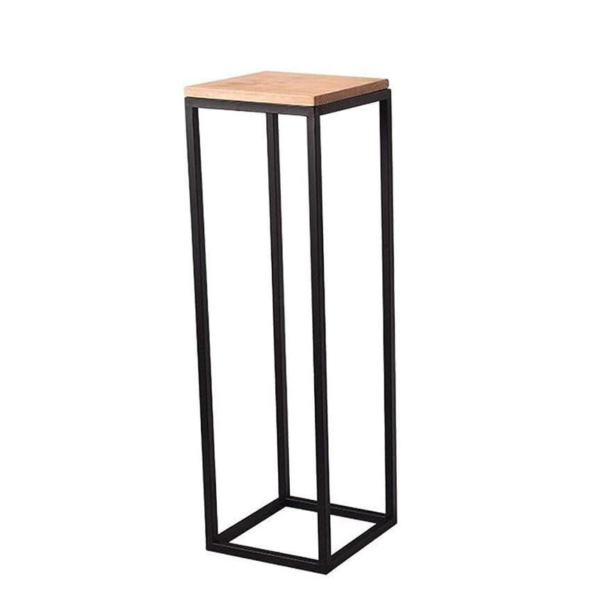 テーブルを設定するスマートゼリーフラワースタンド 屋内と屋外のガーデンパティオ鉢植え置い装飾的な錬鉄製のポットラック ベランダ 屋外 室内 (Color : Black, Size : M:30*30*75cm)