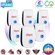 Ultrasonic Pest Repeller 2018 New Electronic Mouse Repellent Plug in Indoor Pest Control Bug Repellent for Mice,Rat,Mosquito,Roach,Ant,Fly,Spider, Rodent-No Trap,Sprayer&Baits, Eco-Friendly&Pet Safe