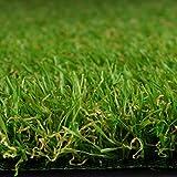 Premium Kunstrasen | Rasenteppich | Rollrasen | Kunststoffrasen | Garten-Rasen | Rasen für Balkon, Terrasse & Garten | viele Modelle | verschiedene Größen & Stärken (Riviera (Höhe: 14mm), 100x200 cm)