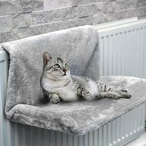 Cuccia Gatto Calorifero 46 x 30 x 25 cm Lettino Gatto Termosifone Caldo Mordbio da Appendere per Gatto e Gattino Cuccia Lettino Gatto Invernale (grigio)
