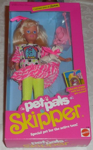 Barbie Pet Pals SKIPPER Doll w Dog & Accessories (1991) by Barbie