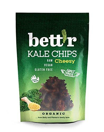 BETTR Chipsy z jarmużu o smaku sera bezglutenowe (30g) - BIO