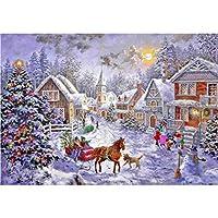 5D DIYダイヤモンドラインストーン刺繍クロスステッチのクリスマスの家の装飾のための絵画ドリルキットクリスマスのフル絵画 D-Square diamond