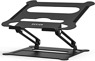"""BESIGN LS05 Aluminum Laptop Holder, Ergonomic Adjustable Notebook Stand, Riser Holder Computer Stand Compatible with MacBook Air Pro, Dell, HP, Lenovo More 10-15.6"""" Laptops"""