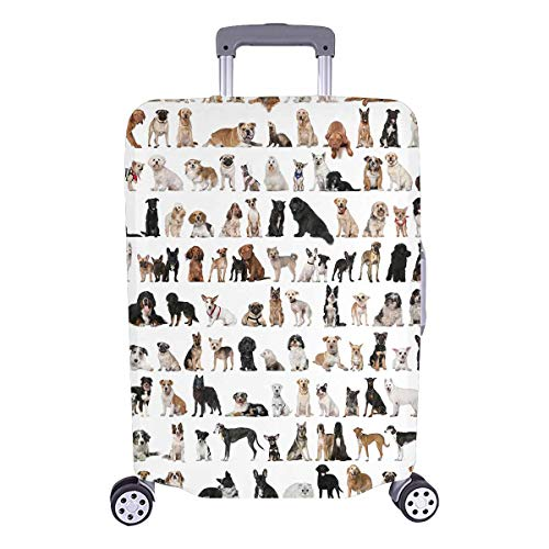 InterestPrint Various Puppy Dogs Travel Luggage Cover Suitcase Baggage Protector Fit 26'-28' Suitcase