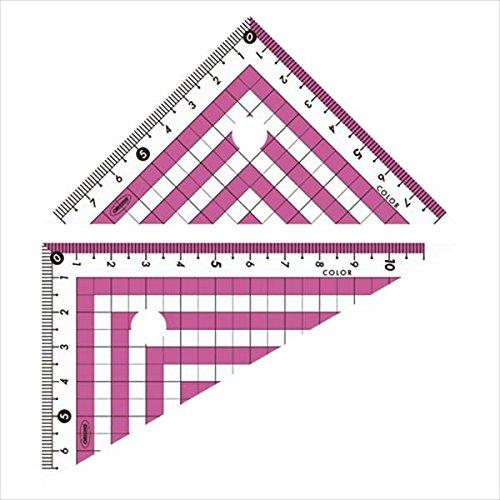 共栄プラスチック カラー三角定規 ピンク (CPK-120-P)