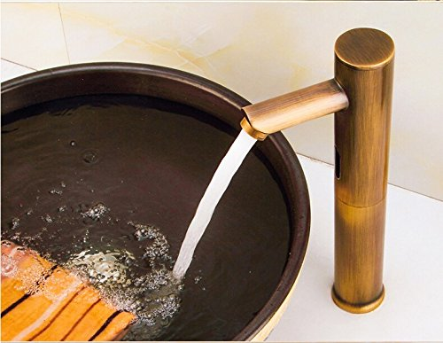 ChengZIArchaize robinet induction, induction du bassin du pot, robinet robinet cuivre tous, chaud et froid,robinet antique blanc utilisation double change