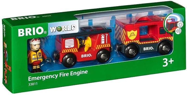 Brio- camion dei pompieri, multicolore, 33811