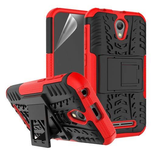 betterfon | Outdoor Handy Tasche Hybrid Hülle Schutz Hülle Panzer TPU Silikon Hard Cover Bumper für ZTE Blade L110 Rot