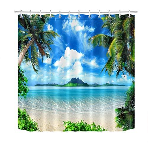 Tropical Beach Shower Curtains