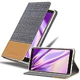Cadorabo Coque pour Nokia 7 Plus en Gris Clair Marron - Housse Protection avec Fermoire Magnétique,...