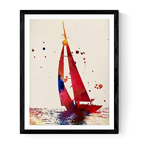 Nacnic Lámina para enmarcar Barco velero Regalos del mar. Laminas para enmarcar con imágenes de Barcos. Regalo Curioso. Papel 250 Gramos