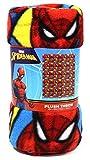 "Spiderman Fleece Throw Blanket - Fun Superhero Fleece Throw Blanket for Girls & Boys, Soft & Cozy Plush Lightweight Fabric Bed Cover, Cool Bedroom Decor, Kids Throw Blanket - Size 45""x 60"""