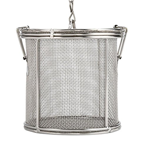 Spice Filter, Stainless Steel Wire Mesh Design Tea Ball Strainer Soup Seasonings Seperation Basket Filter for Home Kitchen