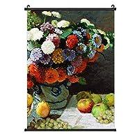 INOV 花およびフルーツ 1869年 クロード・モネ ポスターハンガー 50×70 cm A2サイズ対応 ポスターフレーム 大判 フレームレス 額縁 壁掛け