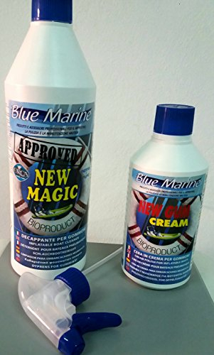 BLUE MARINE KIT NEW MAGIC + NEW GUM CREAM DECAPPANTE E CERA PER GOMMONE NAUTICA