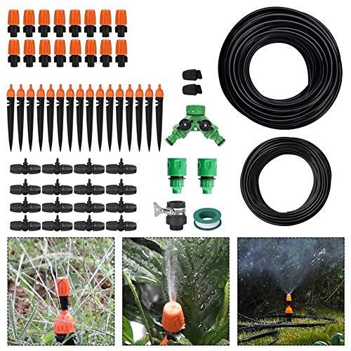 MINGMIN-DZ Dauerhaft 10m X2 9 / 12mm 4 / 7mm Wasserschlauch 2-Kopf DIY Tropfbewässerungs Kit Einstellbare Düsen Gartenbewässerungssystem Gewächshäuser Sprinkler