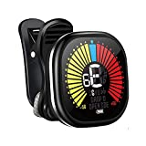 LEKATO Rechargeable Guitar Tuner Clip On Tuner for Acoustic Guitar, Bass, Violin, Ukulele