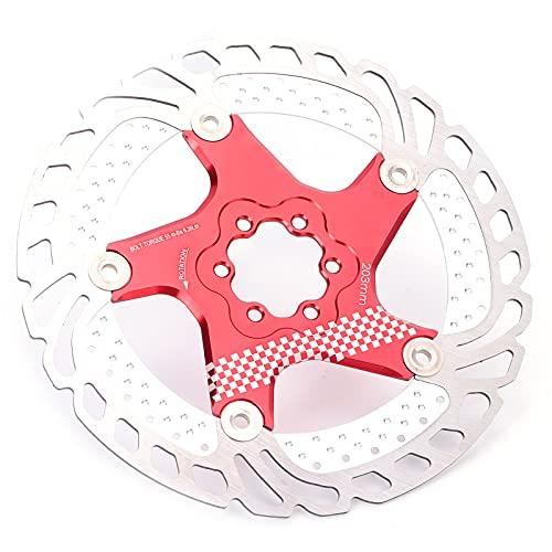 Gaeirt Rotore di Ghiaccio Galleggiante per Bici da Strada, Disco di Raffreddamento del Freno della Bicicletta ad Alta Resistenza Rotore di Ghiaccio Galleggiante Ultra-Leggero Design Unico di(Rosso)