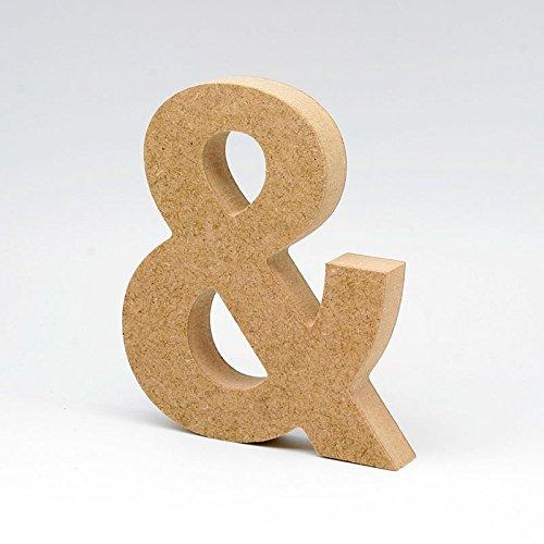 LA LLUNA ALWAYS CREATING Letras de Madera. Letras Grandes de Madera DM de 20cm de Alto para decoración y Manualidades. Disponible el Alfabeto Completo (&)