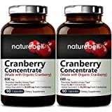 Cranberry Whole Fruit Concentrate (Made with Organic Cranberry), 90 Capsules, Equivalent to 36,000mg of Fresh Cranberries 2-Pack