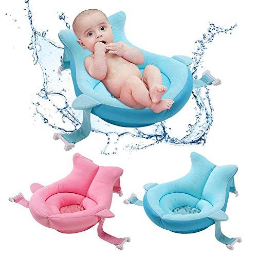 Baby Badewanne Pad Neugeborene Baby Badewanne Kissen, Neugeborene Bad Anti-Rutsch-Kissen Sitz, Schwimmendes weiches Badekissen Für Neugeborene 0-12 Monate, Schnelltrocknendes Gewebe