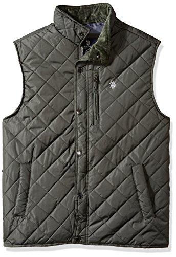 U.S. Polo Assn. Men's Diamond Quilted Vest, Dark Shadow, L