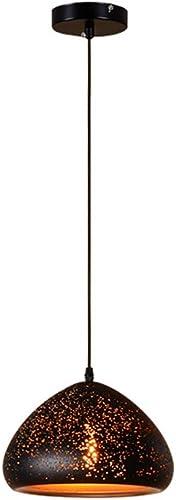 Creative Lustre Creux, Rétro LED Pendentif De La Mode En Fer Forgé Table à Manger Lustre Plafonnier Magasin De VêteHommests Magasin Bar Salon Café Antique Lampe Décorative (Couleur   A)