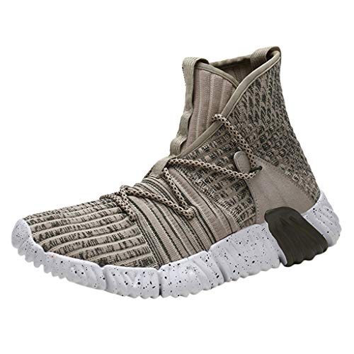 Learn More About Men High-Top Fly Woven Breathable Running Shoes Outdoor Casual Sneakers Shoes Autum...