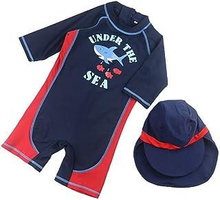 466b3906ef LINGS Maillots de Bain pour Garçons - Enfants Costume de Natation Une Pièce  Combinaison Anti-