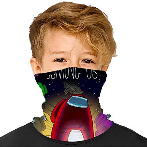 Among US 56 Kids Neck Gaiter Face Bandanas Mouth Cloth Cover Balaclavs Tube Headband for Dust Sun Protection