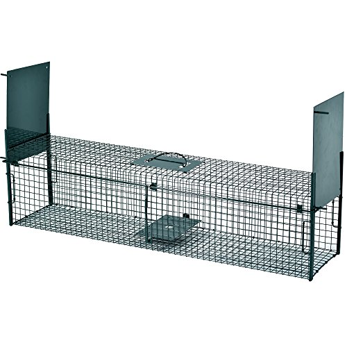 PROHEIM Lebendfalle Secure-L 103 cm - zuverlässige & sichere Tierfalle mit 2 Eingängen - sofort einsatzbereit & wetterfest - Marderfalle mit Bissschutz - ideal für Marder, Katzen, Kaninchen, Iltis