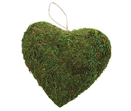 Lillian Rose Rustic Green Moss Hanging Heart Wedding Decor