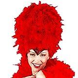 Widmann- Copricapo in Paillettes con Piume Rosso Cappello Donna, Multicolore, 4724R