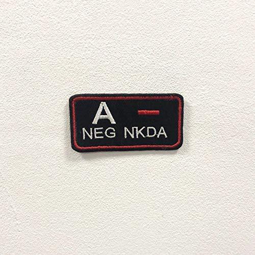 Parche bordado para planchar o coser con la insignia de la NKDA negativa.