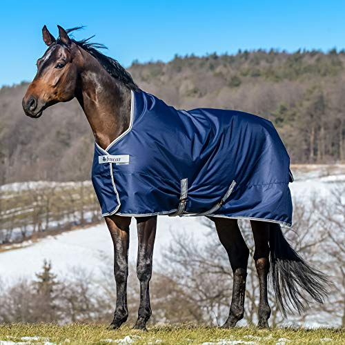 Bucas Freedom High Neck 150g Turnout Rug 6ft6 Navy Silver